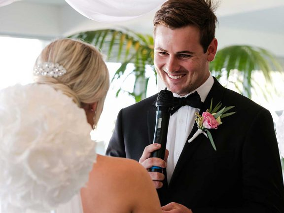 mooloolaba-surf-club-wedding-vows-groom-talking