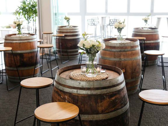 surf-club-mooloolaba-special-event-barrel-tables
